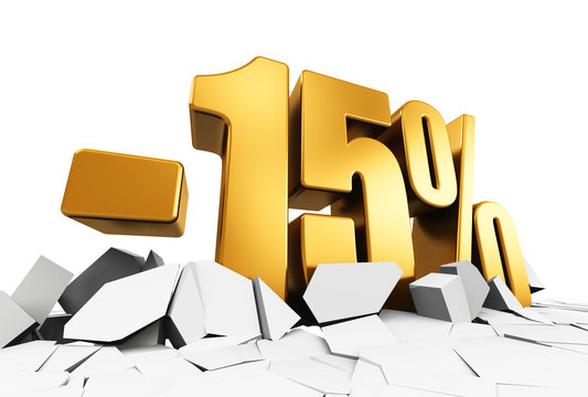 15 percent sale and discount advertisement concept