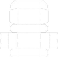 cardboard box vector template