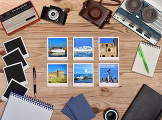 Six travel foto card.