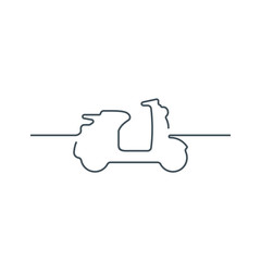 Scooter icon. Scooter flat. Scooter vector. Scooter isolated background. Scooter line. Scooter illustration. Motorcycle icon.