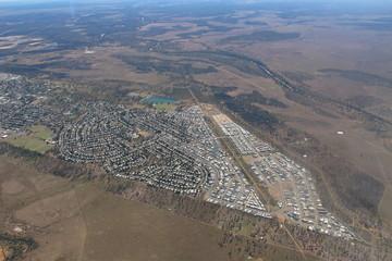 Aerial photography of  Moranbah, Queensland, Australia