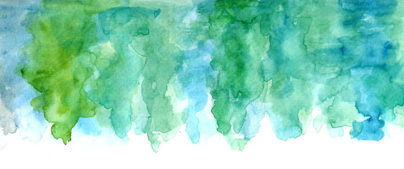 Abstract artistic background texture with watercolor stains of paint