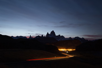 Mount Fitz Roy at sunset. Los Glaciares National Park, Patagonia