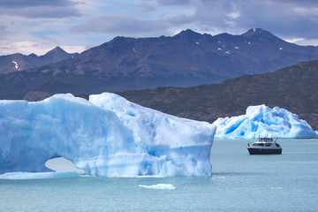 Icebergs in tne Argentino Lake, Patagonia, Argentina
