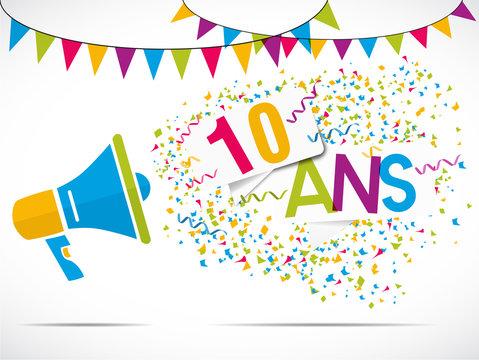 mégaphone : anniversaire 10 ans