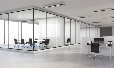 Office interior side Wall mural