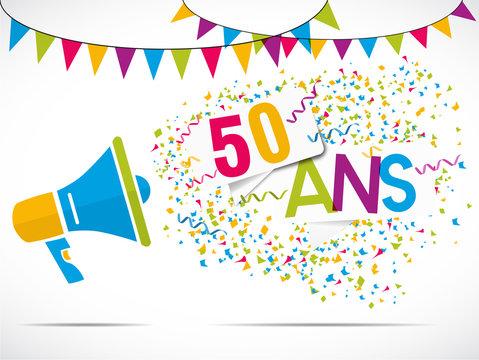 mégaphone : anniversaire 50 ans