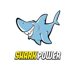 Comic shark logo character design