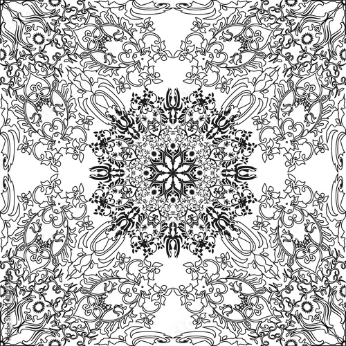 Coloring Pages For Adults And Older Children Painting Mandala Flower Islamic Arabic
