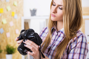 Female with camera