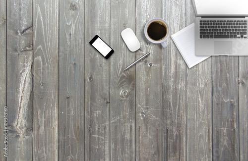 Wood Office Desk Top