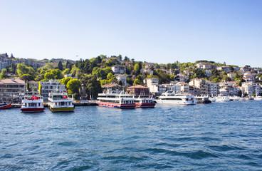 """View of upscale neighborhood """"Kurucesme"""" in Istanbul"""