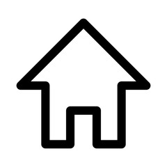Home line art icon for apps and websites