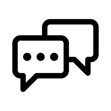 Chatting or messaging bubbles line art icon apps and websites