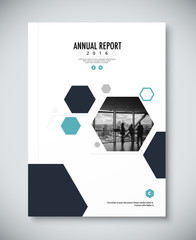 Corporate annual report template design. corporate business docu