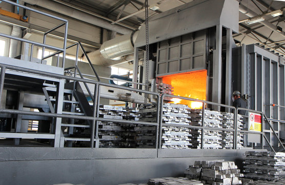 production of aluminum smelting