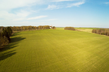 Spring time in latvian countryside.