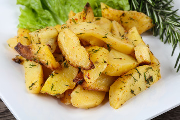 Baked potato with dill