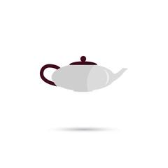 Color illustration of tea kettle icon