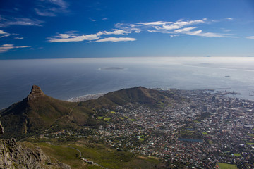 Cape Town depuis Table Mountain