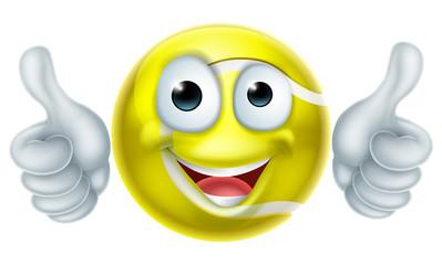 Cartoon Tennis Ball Man Character