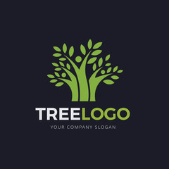 Tree logo,people tree logo,family logo,green logo,eco logo,vector logo template.