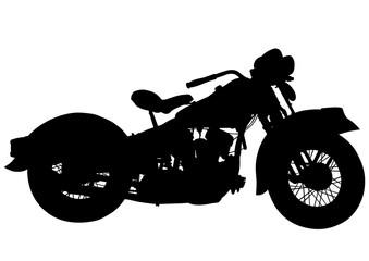 Wall Mural - Old motor bike on white background