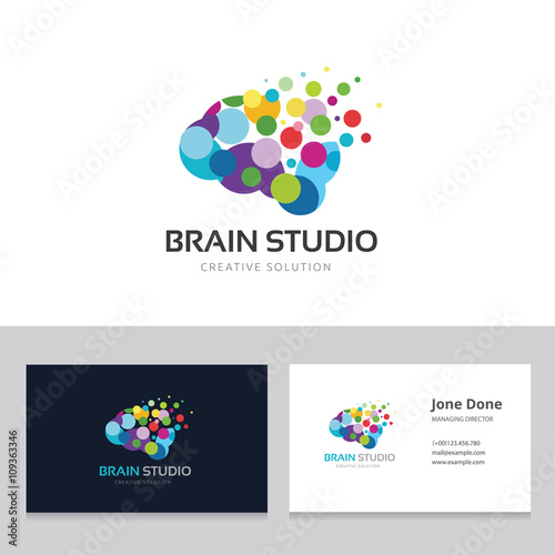"""Brain studio logo.brain logo. idea logo. creative logo ..."
