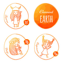 Zodiac element earth