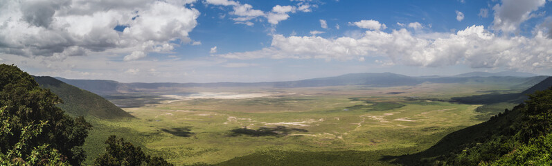 Full view of the Ngorongoro crater