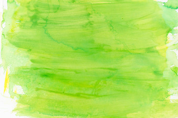 watercolor green painted background