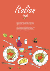 Vector_cooking_banner_template_with_hand_drawn_objects_on_italia