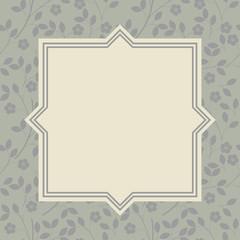 Stylish floral frame