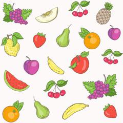 Fresh fruit pattern