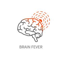 Brain fever icon