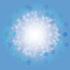 Colorful background with circles and flares. Vector illustration.