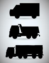 Truck design. transportation icon. silhouette illustration