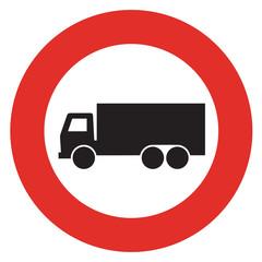 No truck sign.