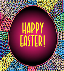 Easter background. Rhinestone gem pattern.