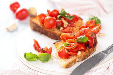 Italian food. Bruschetta.