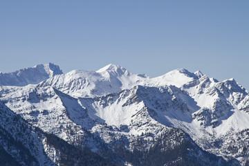 Fototapete - Wettersteingebirge im winter