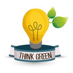 think Green design. natural concept. ecology illustration