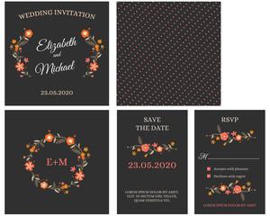 Wedding Invitation Card Invitation with flowers