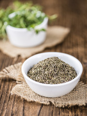 Dried Thyme (selective focus)
