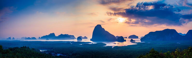 Sunrise Andaman Islands. Early morning at Samet