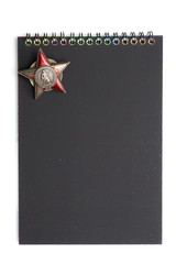 notebook red star