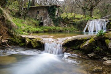 Foto op Canvas Molens Ancient water mill of Belandia, Vizcaya (Spain)