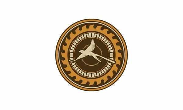 Logo of an abstract and elegant vintage bird scissortail