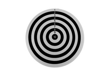 Black Dartboard isolated on white background