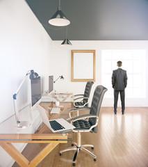 Businessman in office side